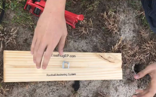 Rootball ANchor Board Installtion Details